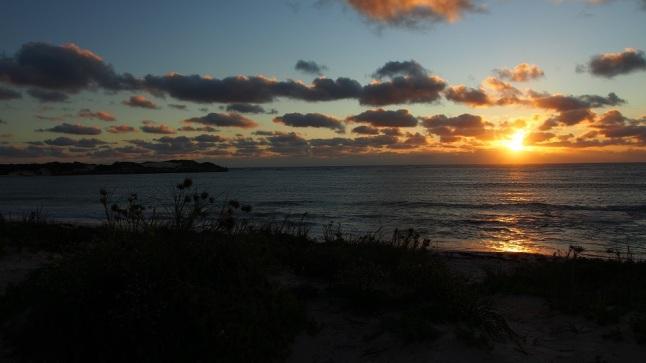 Belohnt wurden wir von diesem herrlichen Sonnenuntergang.